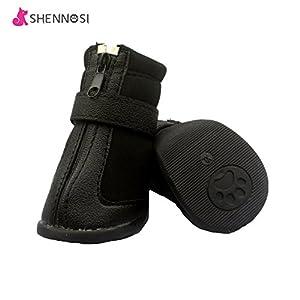 shennosi pattes Protection d'écran de protection pour chien Chaussures avec respirante et semelle antidérapant (Lot de 4)