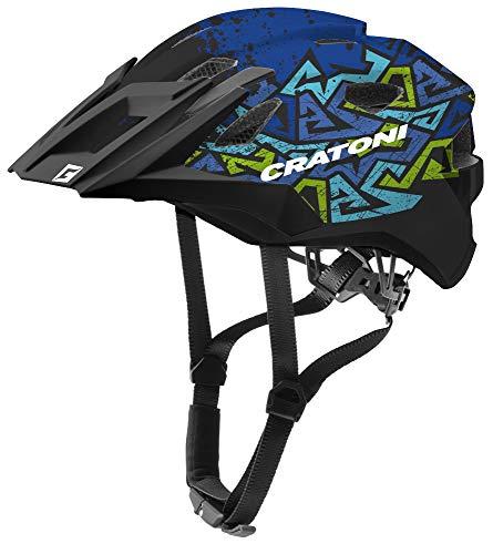 Cratoni Allride Junior Jugend Fahrradhelm Kinderhelm Allround (wildes blau, Uni (53-59 cm))
