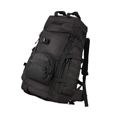 Tactical Backpack 60l Hiking Military Army Combat Rucksack Trekking Black