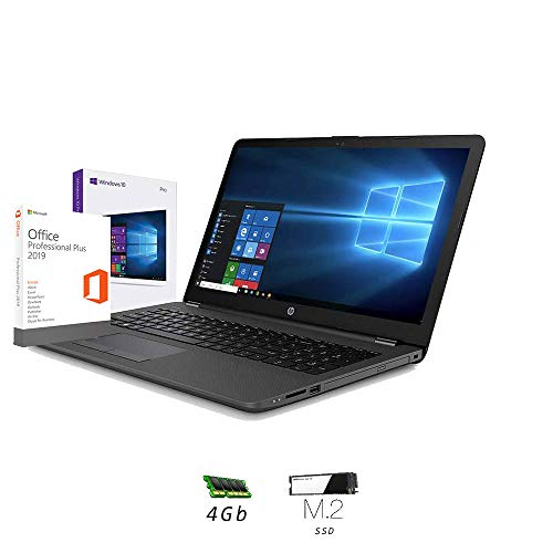 Hp 255 G7 Notebook hp Display da 15.6' Fino A 2.60GHz,Ram 4Gb Ddr4 SSd M.2 256 Gb,Radeon R3,Pc portatile Hp,Hdmi,DVD,Cd RW,Wi fi,Bluetooth,Windows 10 professional,Office Pro 2019