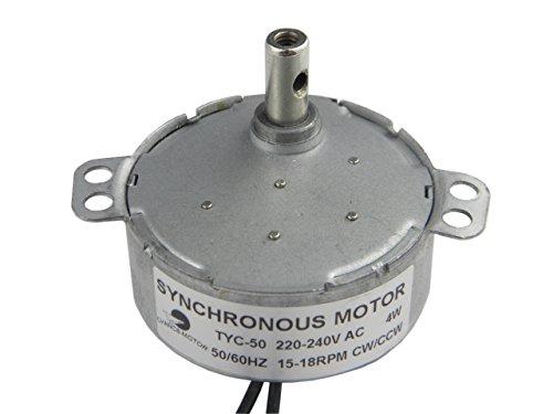 CHANCS Synchronmotor TYC-50 AC 220V 15-18RPM CW/CCW 4W Leistung Getriebemotor