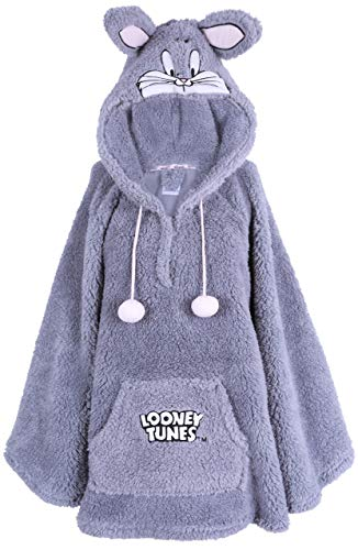 Graues Poncho Hase Bugs XS/S