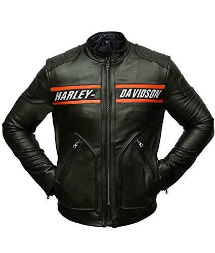 Goldberg Harley Davidson - Chaqueta de piel auténtica para motociclista