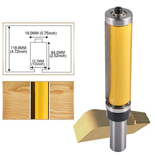 HOHXEN Bündigfräser-Fräs-Bit, 1,27 cm Schaft, oben und unten Lager, Fräser für Holzbearbeitung