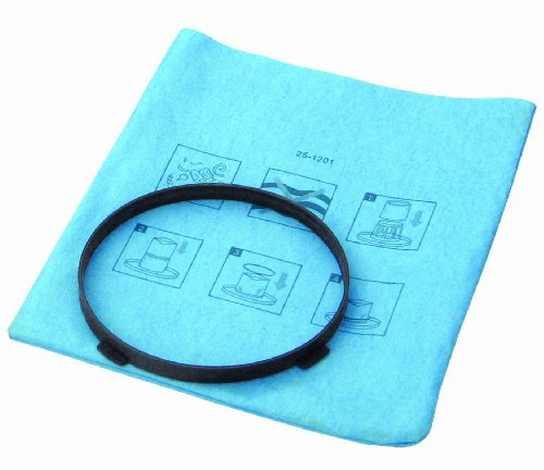 STANLEY - 251201 Stanley 25-1201 Blue Cloth, Reusable Filter with Clamp Ring for 1-5 Gallon Wet/Dry Vacuums, 1-Pack