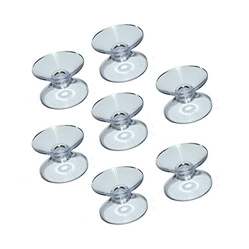 Double Sided Suction Cups for Glass Table Top, to Keep The Glass Table Top from Sliding, Glass Table Top Bumpers,Glass Table Top Spacers, Window Hanger Suction Cup. 12 Count.