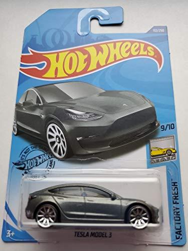 Hot Wheels 2020 Factory Fresh Tesla Model 3, Gray 112/250