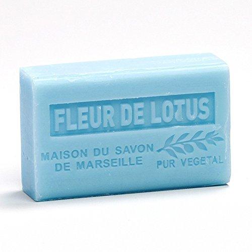 Preisvergleich Produktbild Provenzalische Seife Lotusblüte (Fleur de Lotus) mit Bio-Sheabutter (125 Gramm)
