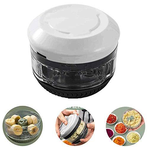 Garlic Twister, Mini Handheld Garlic Press/Garlic Puree Chopper, Best Kitchen Multifunctional Shredder, Keep Your Hands Away from Odors (black)
