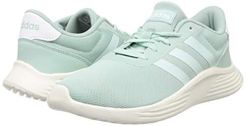 adidas Lite Racer 2.0, Zapatillas para Correr Mujer, Tinte Verde Tinte Verde Blanco Tiza, 38 2/3 EU