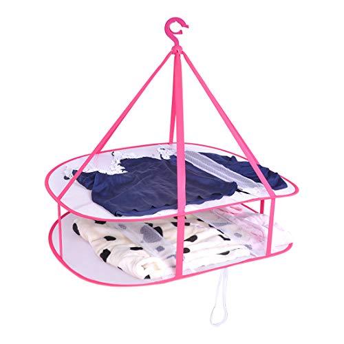 DEWEL 物干しネット 平干し ハンガー セーター干し 洗濯ハンガー 折りたたみ 段分け 衣類掛け ニット 枕 ぬいぐるみ 型崩れ防止 収納 小物整理