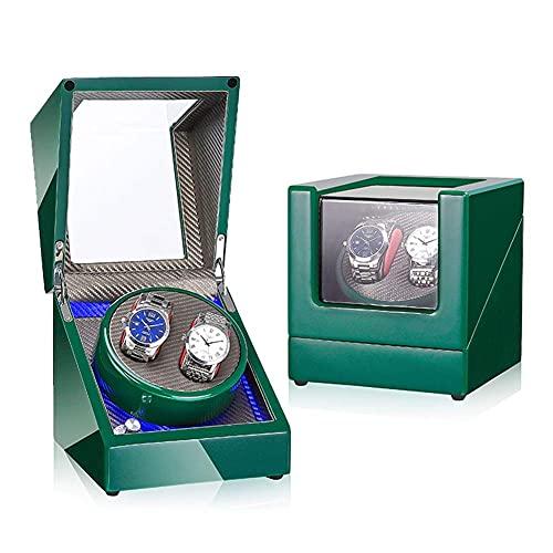 AMAFS Enrollador de Reloj automático Doble con 5 Modos de rotación Silencio Motor japonés Relojes Dobles Caja de presentación con rotación de Almacenamiento Festival