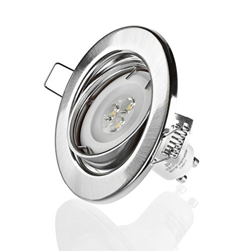 Sweet Led set de spot complet encastrable avec intensité variable 3x1W 230V, ensemble complet