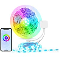 HBN 16.4 Ft RGB LED Strip Lights Compatible with Alexa and Google Assistant
