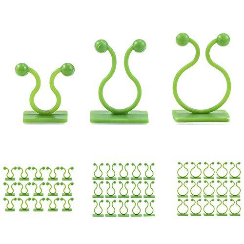 Haude 120 Piezas Clip de FijacióN de Vid de Pared Invisible Verde, Dispositivo de FijacióN para Trepar Plantas Gancho de FijacióN Autoadhesivo Dispositivo de FijacióN de Vid
