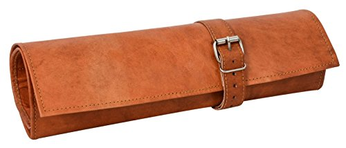 Gusti Werkzeugtasche Leder - Jace Rolltasche Werkzeugmappe Vintage Braun Leder