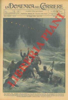 Rifugiati sopra un pontone in una notte di tempesta nello Jonio, otto naufraghi videro passare numerose navi senza che alcuno sentisse le loro invocazioni. Sono stati salvati solo il giorno dopo.