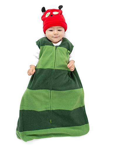 Cuddle Club Schlafsack Baby und Neugeborene - Tragbare Decke - Baby Schlafsack aus Fleece - CaterpillarWBM