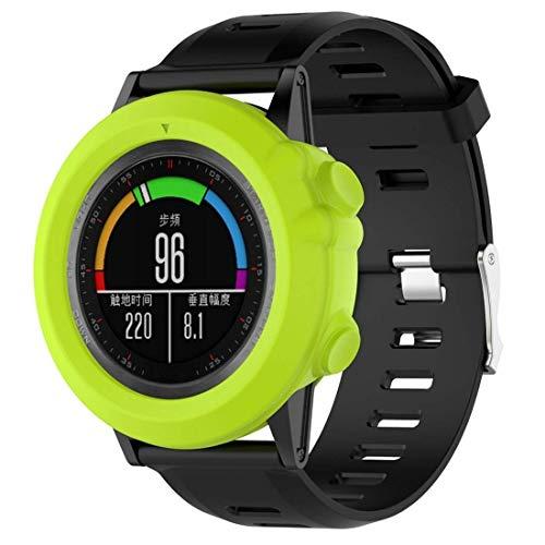 Correa,Marco de Reloj, Bisel, Reloj, Funda Protectora de Silicona para Garmin Fenix 3 (Verde Militar) (Color: Rojo Rosa)