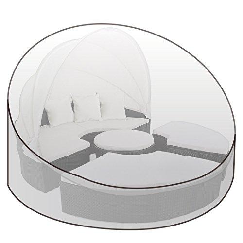 WOLTU® Schutzhülle Schutzhaube Abdeckplane Gartenmöbel Abdeckhaube Gewebeplane Plane Hülle Abdeckung für Sonneninsel Sonnenliege 175x85/45cmcm transparent GZ1195tp