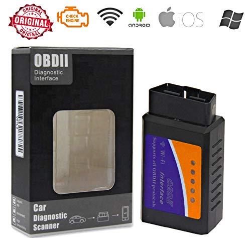 GibtPlus+ ELM327 V1.5 WiFi OBD2 Scanner v1.5 Ulme 327 ORIGINAL 25K80 Auto Diagnose Werkzeug OBDII für Android/IOS, Windows (WiFi)