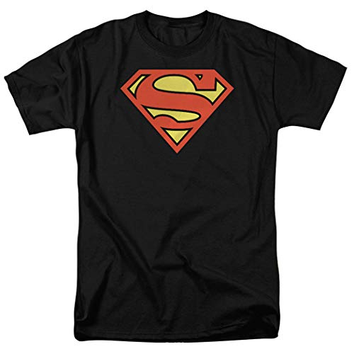 Popfunk Superman Logo S Shield Black T Shirt (X-Large)