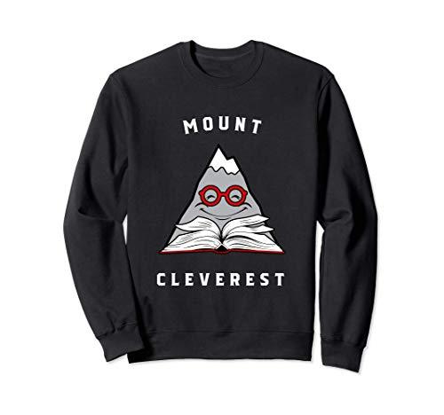 Monte Cleverest - Diseño de libro Nerd Sudadera