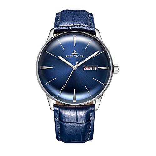REEF TIGER Herren Uhr analog Automatik mit Leder Armband RGA8238-YLL