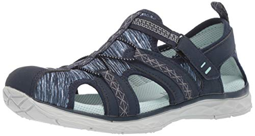 Dr. Scholl's Shoes Women's Andrews Fisherman Sandal, navy nubuck/fabric, 7.5 M US