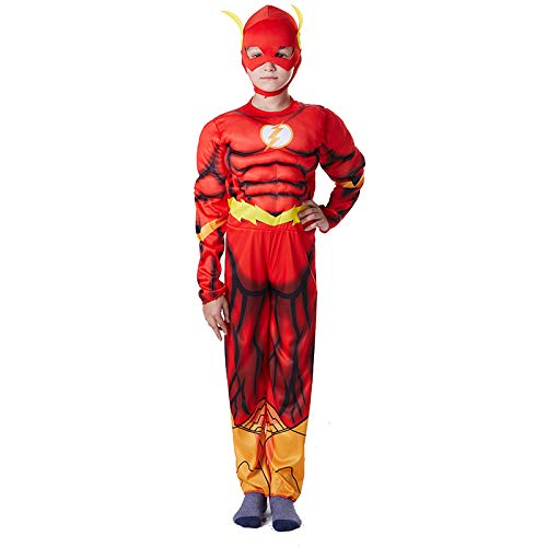 WSJYP Halloween Kostüm Kind Erwachsener Mann Superheld Flash/Mann Kleidung Justice League,Children'sFlash-S
