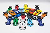 36 PC DIE CAST CAR MODEL SET F1 CONVERTIBLE RACING CARS KIDS TOY PLAY...