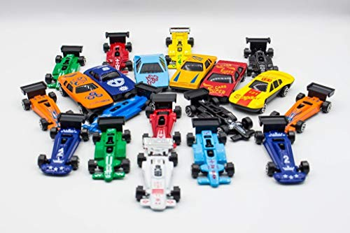KandyToys Kids Die Cast Metal Toy Cars - 36 Piezas de Coches de Carreras, Paquete de Coches de...