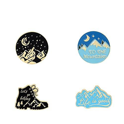 La vita è buona, andiamo a fare un'escursione Fantasia Cielo stellato In montagna Viaggi Spille smaltate Distintivi Distintivi Gioielli Regali per viaggiatori