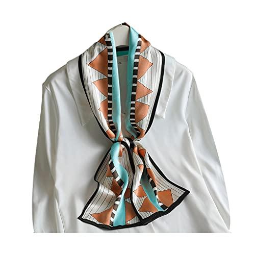 ZRL Bufanda de seda ligera y larga, ligera, elegante, perfecta para el día de la madre, mejores regalos de moda bufandas (color: C)