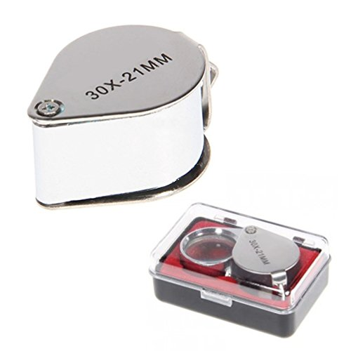 Domire–Lupa de joyero (30x 21mm de Nueva Lupa Ojo Cristal en caja de regalo, color estilo 1