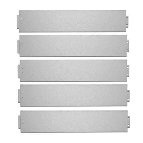 UISEBRT 10x Rasenkante Verzinkt 100x15cm Metall Beetumrandung Mähkante Palisade 10m (Länge 10m - Höhe 15cm)