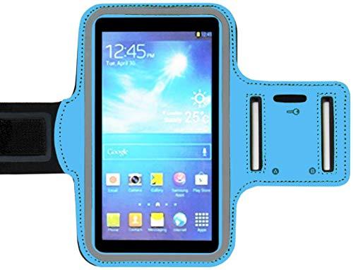 ADEL Sport armband microvezel telefoonhoes 5.5 inch compatibel met iPhone 11 - blauw