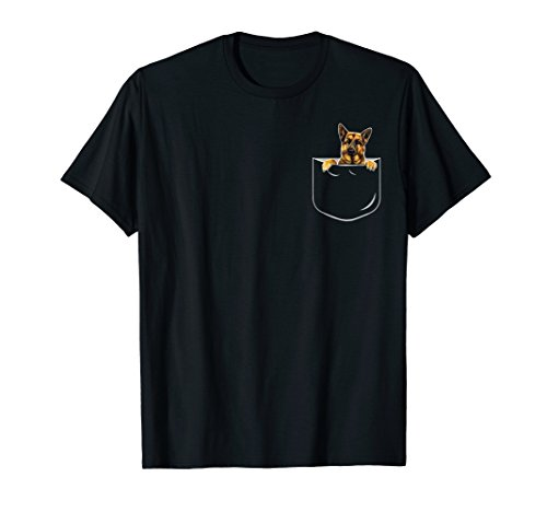 Pocket German Shepherd Shirt, Dog Lover Gift Shirt