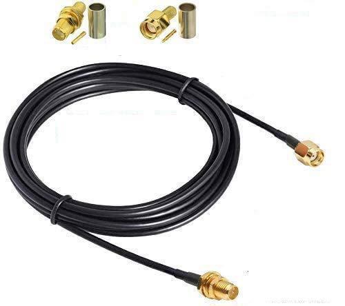 RUNCCI-YUN 10m WLAN Antenne verlängerungskabel WLAN Antennenkabel SMA Kabel RG174 Kabel SMA(RP-SMA Stecker auf RP-SMA Buchse)+SMA –Stecker