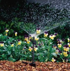 Micro-pulvérisateur Rain Bird avec débit réglable sur tige 90°