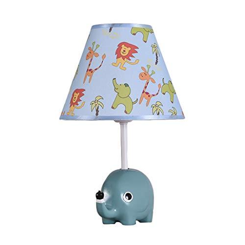 Creative Cartoon Lampe De Table Fille Chambre Chevet Lampe Idyllique Chambre D'enfant Décoration Mignon Unicorn Night Light Dimmable LED Bureau Little Elephant Night Light (Size : Dimming switch)