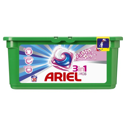 Ariel 3 en 1 Pods – Sensaciones de frescor rosa – Detergente...