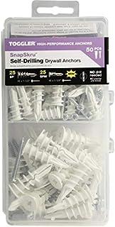 Toggler 57125 Snapskru Drywall Anchors 50 Pieces Set