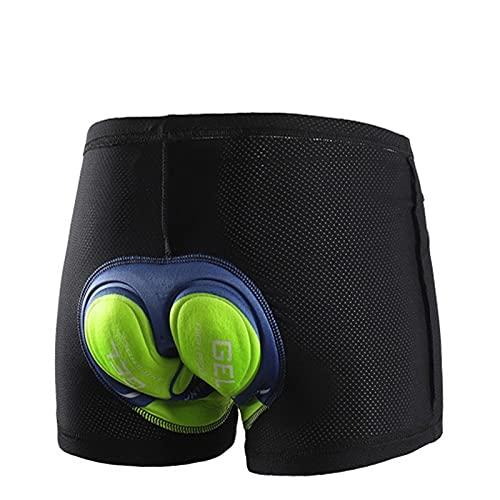 Pantalones cortos de ciclismo transpirables Ciclismo Ropa interior Gel Pad A prueba de choques Bicicleta de bicicleta Pantalones cortos para hombre Ciclismo Culote ( Color : 001 C , Size : X-Larege )