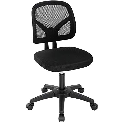 Home Office Chair Ergonomic Desk Chair Mesh Computer Chair with Lumbar Support Swivel Rolling Executive Adjustable Task Chair for Women Adults(Black)