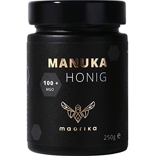maorika - Manuka Honig 100 MGO + 250g im Glas - das Original aus Neuseeland - mit zertifiziertem Methylglyoxal Gehalt