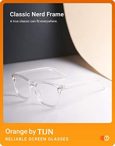 Clear plastic frame glasses _image0