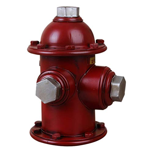 YARNOW Fire Hydrant Statue Dog Puppy Pee Training Post Statue Outdoor Garden Yard Lawn Ornament for Firefighter Party Favor 18X17X23cm