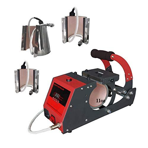 Mug Press 4 in 1 Heat Press Machine Sublimation Transfer Printing Machine for Cups, 6oz 10oz 11oz 12oz