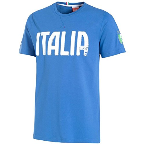 PUMA Herren Italien T-Shirt FIGC Italia Graphic Tee, Team Power Blue, L